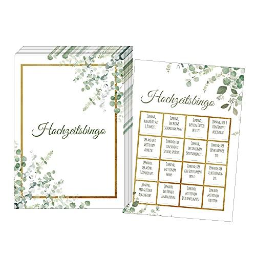 50 Karten Hochzeitsbingo, Witziges Hochzeitsspiel für Gäste, Hochzeitsspiele für Gäste,...