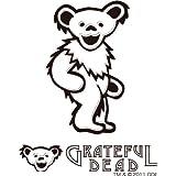 グレイトフルデッドベア GRATEFUL DEAD ステッカー GD DANCING BEAR RUB ON STICKER C WH