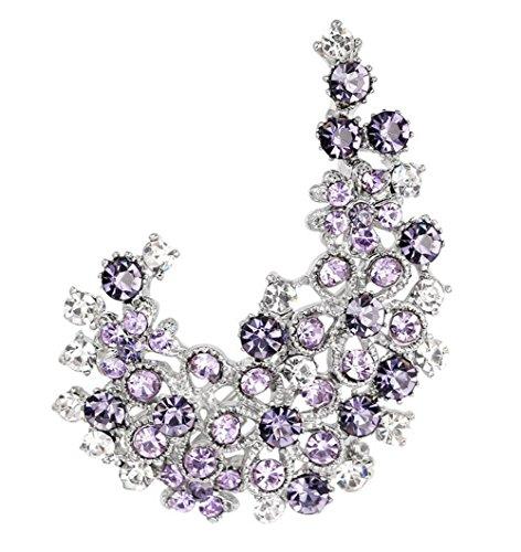 Emorias 1x Charmant Corsage de Flores Brillantes Broche de Cristal de Mujeres de Moda Accesorios de Pelo élégants
