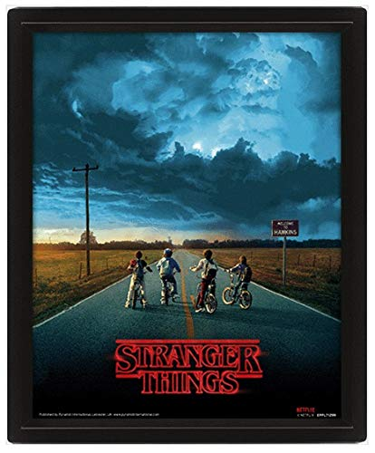 Stranger Things 3D Lenticular Poster, Multicoloured, 10 x 8 inches