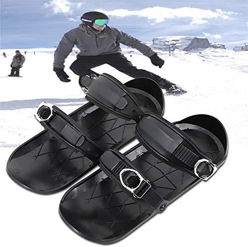 Mini Ski Skates Skis Shoes For Snow, Mini Bottes De Ski Portables RéGlables Skiboards Courts, Skis Et Patins Connect Snow Boots, Chaussures De Ski De Sport Universelles Pour Hommes Femmes