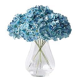commercial Kislovum Artificial Hydrangea Flower Head 10 Turquoise Silk Hydrangea Flower For Wedding … silk flowers