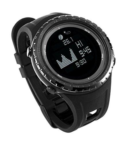 Mejor ES Digital deporte pesca reloj con funciones de altímetro, barómetro y marea   Pesca impermeable elegante y deportivo reloj con 12 funciones al aire libre esenciales de Express Panda