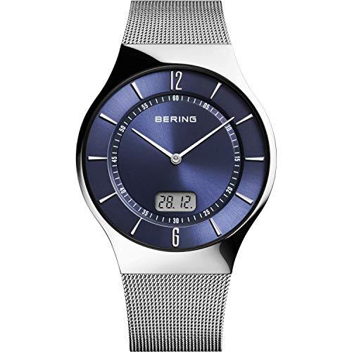BERING Herren Analog-Digital Quarz Uhr mit Edelstahl Armband 51640-007