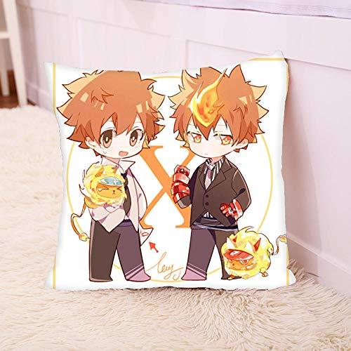 Anime private teacher Kokichi Sawada Prison Temple Hayato Pillow Lunch Break Pillowcases Throw Covers Both Sides Print Zipper for Sofa Living Room Bedroom Dorm Decor-1_35x35CM