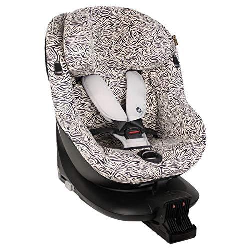 Bezug für Maxi-Cosi Mica Kindersitz Beige Zebra Schweißabsorbierend und weich für Ihr Kind Schützt vor Verschleiß und Abnutzung Öko-Tex Baumwolle