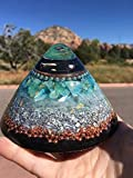 Triple Orgone Anti Stress Generator Dome with Green Calcite
