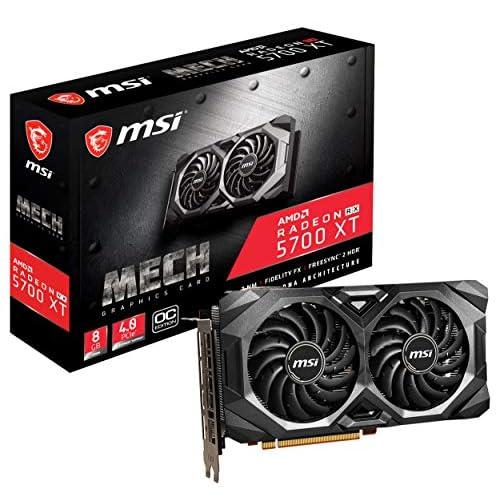 MSI RADEON RX 5700 XT MECH OC Scheda grafica '8GB GDDR6, 1925Hz, AMD NAVI 10 XT GPU, 3x DisplayPort, HDMI, Dual Fan Cooling System'