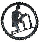 Lorenz Ferart 6216.0decoro Signo del Zodiaco Acuario, Hierro Forjado, Estructura Base Negro Sfumata a Mano, Cobre