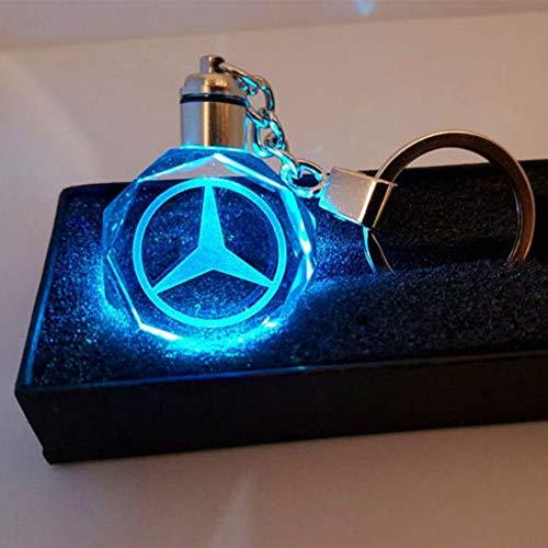 Neues stil auto logo kreative led schlüsselbund kristall licht