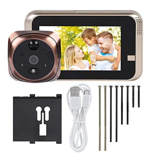 Timbre para Puerta Doorbell Smart Peephole, 720p 4.3inch Screen WiFi WiFi Smart Peephole Viewer Portero Home Visible Intercom Doorphone