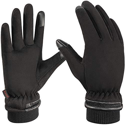 arteesol Winterhandschuhe wasserdichte Thermo -35℃ Touchscreen Handschuhe Dicke Warme Winddichte Fahrradhandschuhe/Laufhandschuhe/Skihandschuhe für Fahren, Skifahren, Radfahren, Laufen im Winter