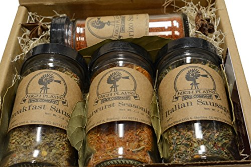 Sausage Seasoning Sampler Gift Set of 4 ~ Gift Set