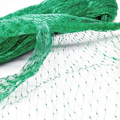 Vogelschutznetz aus Polyethylen, 4x5m mit 15x15mm Mascheinweite, Witterungs- & UV-beständig