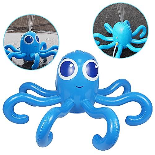 Furado Aufblasbarer Oktopus mit Wassersprinkler,Aufblasbare Oktopus Hawaiian,Spielzeug Aufblasbare Oktopus,Sprühwasser Pool Spielzeug Für Kind,Partyzubehör Aufblasbarer,Beachparty,Mottoparty