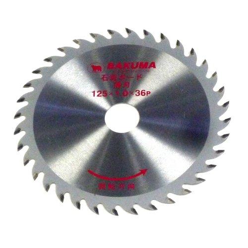 BAKUMA(バクマ工業) チップソー石膏ボード用薄刃 125mm×36P