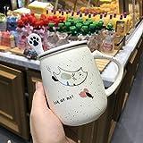 DONG - Taza de Porcelana en mármol Gris Jumbo Taza de café/Taza de té Grande |...