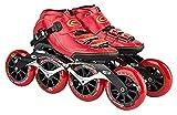 Sports Boys Enline Patines para niños, Principiante en línea de Hockey de Rodillos para niñas, Hombres y Damas Zapatos Patines (Color : Red, Size : 39EU)