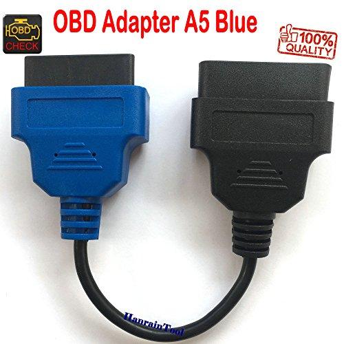 Cable adaptador OBD 5 A5 azul para serie Italia Coche Toro Tipo 500X Kdac Denso Control climático asiento y rueda Diagnóstico