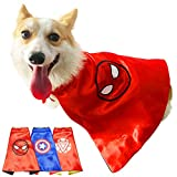 SKYPET Pet Superhero Capes Adorable Dog Costume Puppy Funny Clothes Halloween Christmas Cosplay Dress for Large Medium Small Dogs Cat Clothes