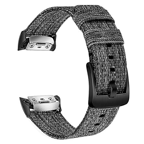 TRUMiRR Watch Band for Gear Fit 2, Genuine Woven Nylon Watchband Stainless Steel Buckle Strap Sports Wristband Replacement for Samsung Gear Fit2 SM-R360 / Fit 2 Pro SM-R365 Smartwatch