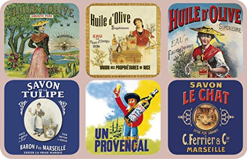 FRANZOSICH Vintage Coaster Retro reclame olijfolie en zeep