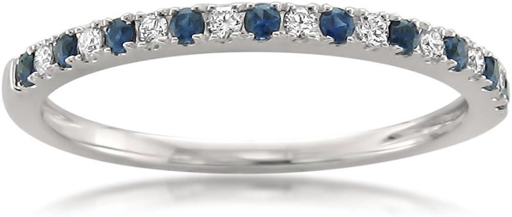 1/4 Carat Diamond, Pave-Set 14kt White Gold Bridal Wedding Band Ring For Women (H-I, VS2-SI1) |Real Diamond|by La4ve Diamonds|Gift Box Included (Red Ruby,Black Diamond,Blue Sapphire & White Diamond)