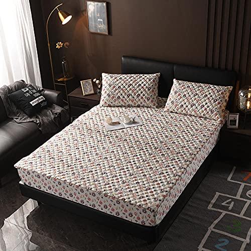XGguo Protector de colchón - Protector de colchón antialérgico Sábana más Gruesa Antideslizante de una Sola pieza-15_150 × 190cm