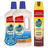 Pronto Kit Pulizia Superfici in Legno, Detergente Spray per Mobili e Detergente Pavimenti, 2 Detergenti Pavimenti da 750 ml e 1 Detergente Spray Mobili da 300 ml