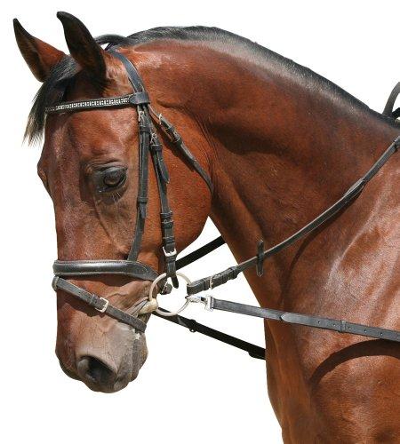 Ausbindezügel ohne Gummieinsatz, schwarz Pony