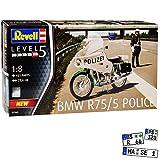 B-M-W R75/5 Polizei Police Weiss Grün 1941-1944 07940 Bausatz Kit 1/8 Revell Modell Motorrad mit...