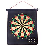 FENGSHUAI Powerful Magnet Darts, Rolled Up 6 Magnets Darts Double-Sided Multiple Fabrics Children Adult Darts Game Party Set Printing Flannel Darts