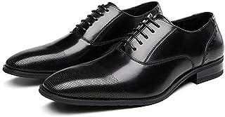 Scarpe uomo Bullock,Scarpe da business formale in pizzo Calzature per abbigliamento per banchetti da lavoro a piedi,Black-...