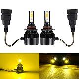 Catland LEDフォグランプ HB4 9006 イエロー フォグ バルブ 黄色 12V 24V 車用 LED フォグランプ/ヘッドライト LEDバルブ 黄 LEDランプ 3600LM×2 35W×2 一体型 ファン冷却 明るい COBチップ搭載 2個入