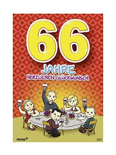 Depesche 5598.085 - Glückwunschkarte mit Motiv von Archie, 66. Geburtstag