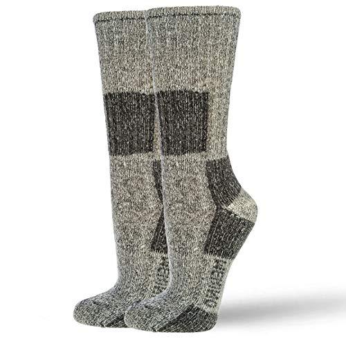 NewwerX Premium Wandersocken mit 85% Merinowolle | Trekking Socken Damen und Herren | Trekkingsocken Atmungsaktiv und Komfortabel (Anthrazit, 39-42)