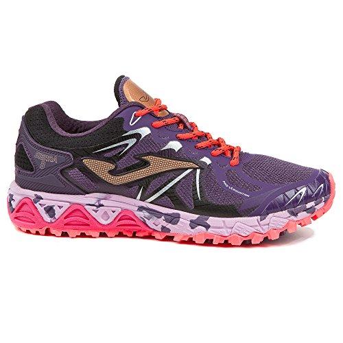 Sportime2 - Zapatillas para Correr en Montaña de Sint�Tico para Mujer Morado Violeta Morado Size: EU 37 - cm 23.5 - UK 4