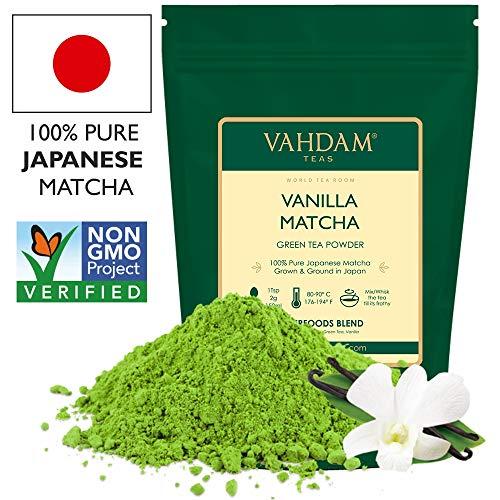 VAHDAM, tè verde alla vaniglia matcha   Polvere di tè matcha 100{e13c713de342d3b50a56bd301c91a8a599752afce89dd3d4b579772fa360ebbb} di origine giapponese   ANTI-OSSIDANTI 137x   Tè verde per perdita di peso e disintossicazione quotidiana   SUPER FOOD del Giappone