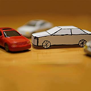 blue-ther Appearing Car Magic Tricks Card to Paper Car Magician Close Up Street Illusions Gimmicks Mentalism Props Funny Kids