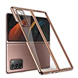 Made of high quality hard Matte Finish PC material, waterproof and anti-scratch. Slim fit and lightweight. Four strengthened corners with raised edge, protect your Galaxy Z Fold 2 from dropping or impacts. Premium Looking Imported Cases Made with Per...