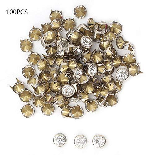 HEEPDD 100 unids 10 mm Remaches de Diamantes de imitación 4 Puntas Incrustaciones de Cristal Remaches…