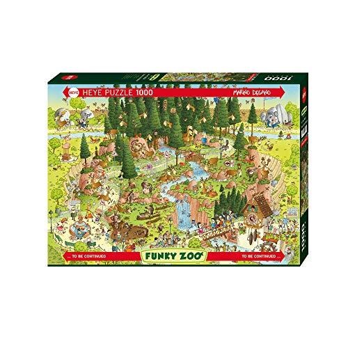 Heye Verlag HY29638 Puzzle Black Forest Habitat, Funky Zoo, Degano Puzzle, Green