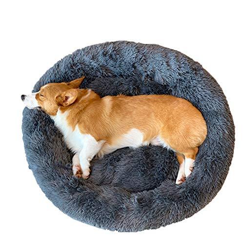 Monba Deluxe Extra großes Hundebett Rundes Haustiernest Für Hunde Und Katzen, 80-120cm,Weich, Waschbar, Kissen Für Katzen/Hunde, Flauschiges Hundekorb Katzenbett Hunde Sofa