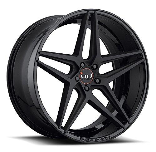 22' Inch Staggered Blaque Diamond BD-8 Gloss/Matte Black Wheels Rims Only | LEXANI FORGIATO ASANTI GIOVANNA CAMARO CHARGER 300C BMW X5 X6 RANGE ROVER