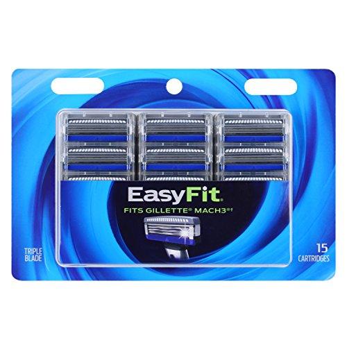 Personna EasyFit 3 Mach3 Razor Handle Compatible Refill Cartridges –15 Count Personna EasyFit Mach3 Razor Blade Refills - Compatible Mach3 Handles
