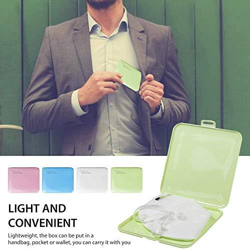 Flyglobal Boîte de Rangement pour Masque Portable, Conteneur Jetable Portatif Lavable Imperméable, Filtre Boîte de Nettoyage Stockage Étanche à la Poussière et à l'Humidité (Blanc)