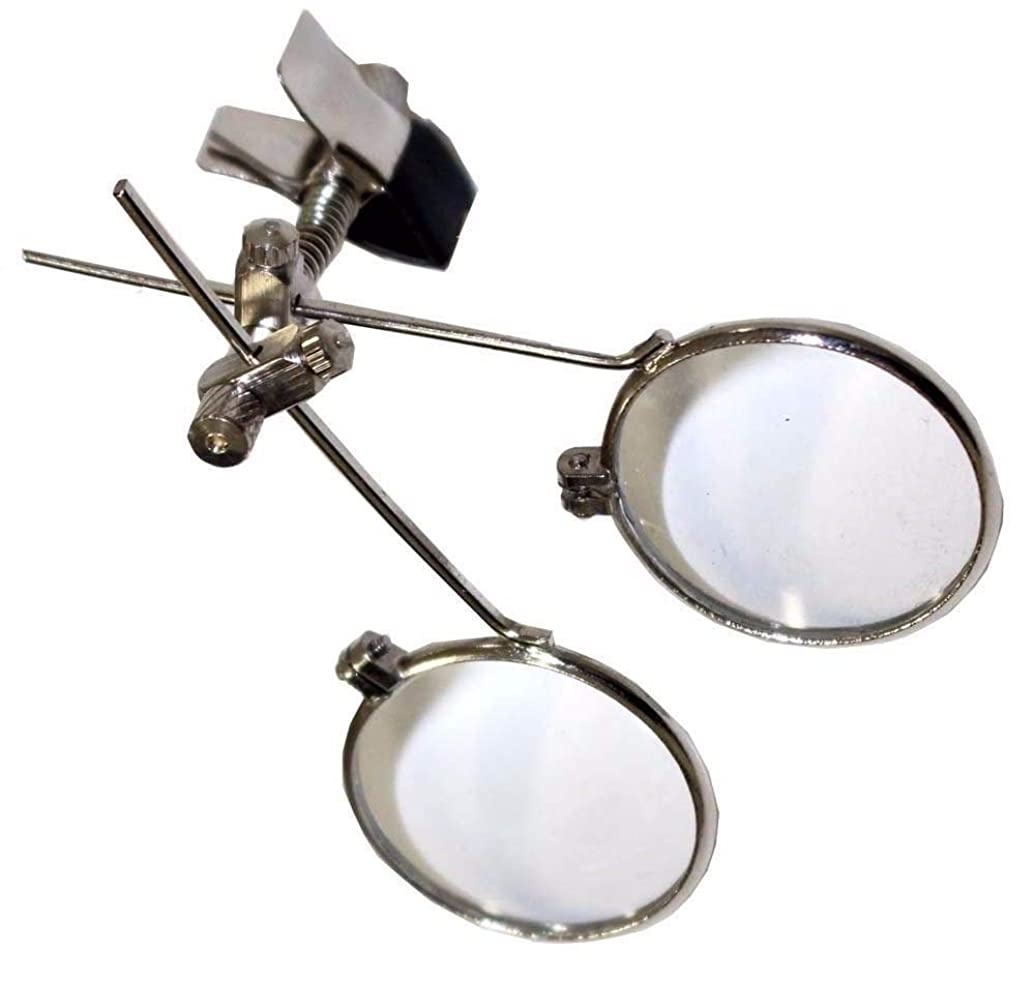 Jeweller's Eye Loupe Clip-On Eye Glasses Jewellery Making Repair Magnifier Craft Steampunk