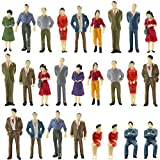 P50 Model Trains Architectural 1:50 O Scale Painted Figures O Gauge Sitting and Standing People for Miniature Scenes New (50PCS)