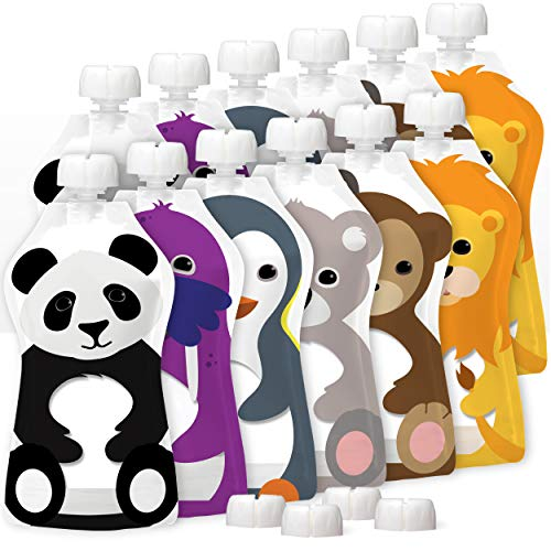 Product Image of the SQUOOSHI Reusable Baby Food Pouches - 5 oz - 12 Large Pouches… - Baby Food...