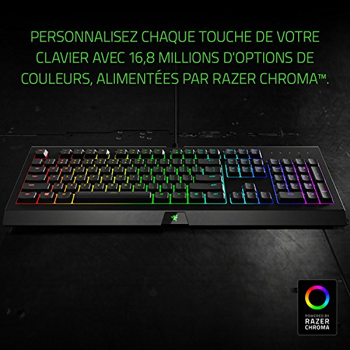 Razer Cynosa Chroma - Gaming-Tastatur mit Razer Chroma Beleuchtung (Gaming-Tasten mit weich gefedertem Touch, Anti-Ghosting & 10-Tasten-Rollover) - Französisches Layout